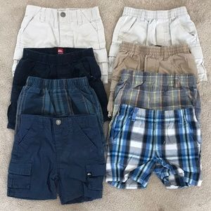 Eight pair baby Quiksilver shorts.